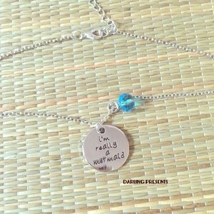 SILVER 'IM REALLY A MERMAID' NECKLACE
